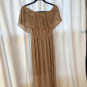 Gold metallic Athena dress